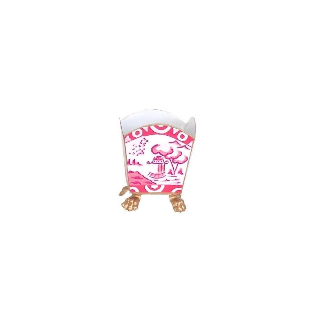 Dana Gibson Canton in Pink Cachepot Small