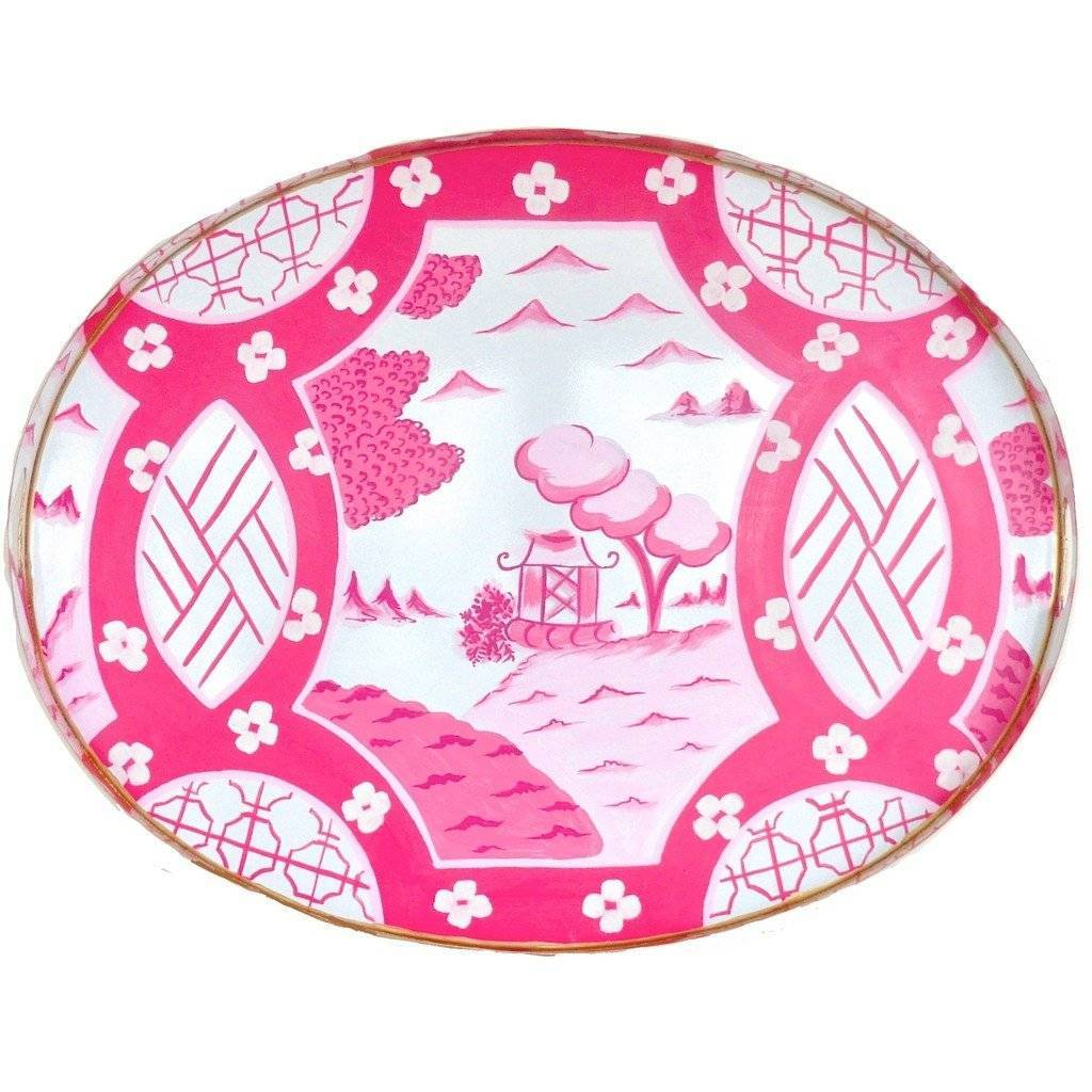 Dana Gibson Canton in Pink Tray Large