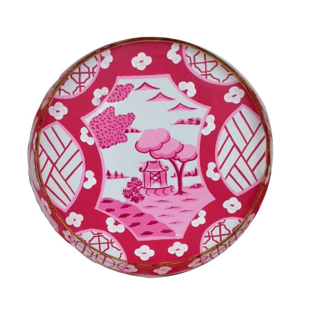 Dana Gibson Canton in Pink Tray Small