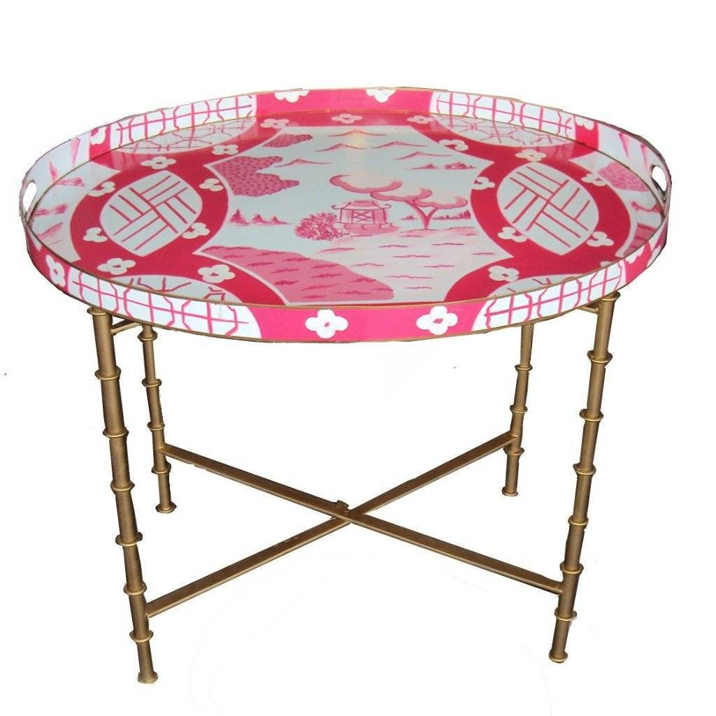 Dana Gibson Canton in Pink Tray Table