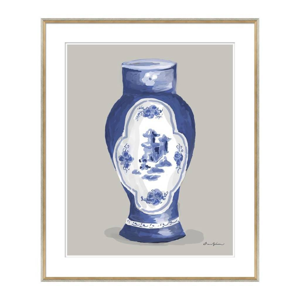 Dana Gibson Derby Vase in Blue