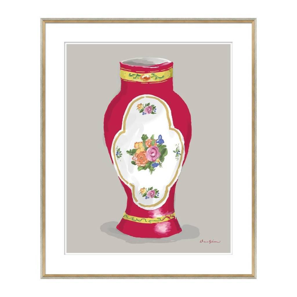 Dana Gibson Derby Vase in Red