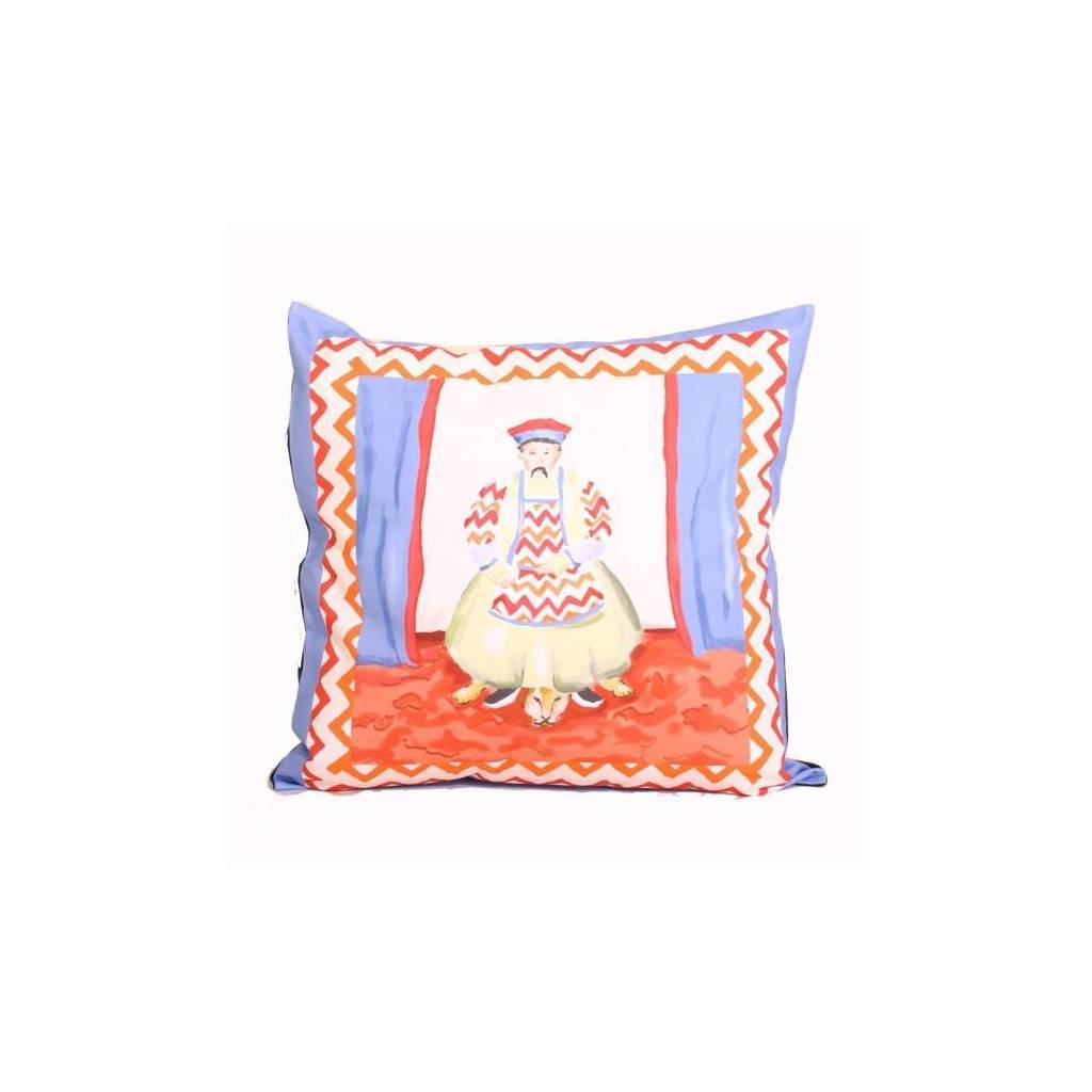 Dana Gibson Emperor Pillow in Blue