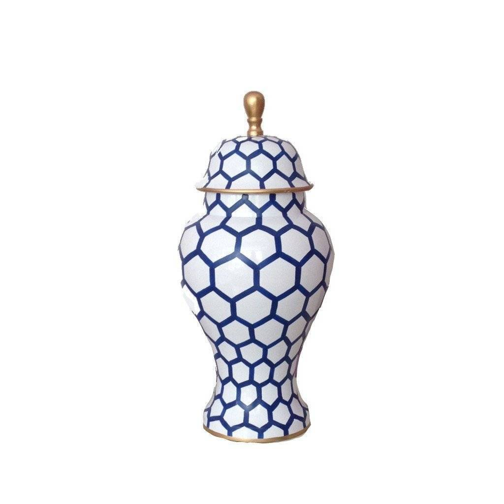 Dana Gibson Ginger Jar Small in Blue Mesh