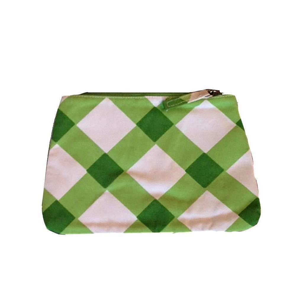 Dana Gibson Gingham in Green Travel Bag Small or Large