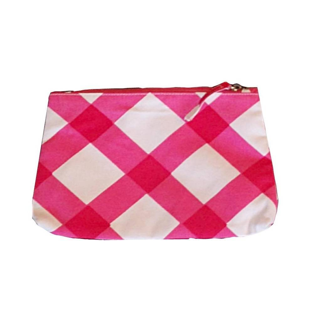 Dana Gibson Gingham in Pink Travel Bag Small or Large