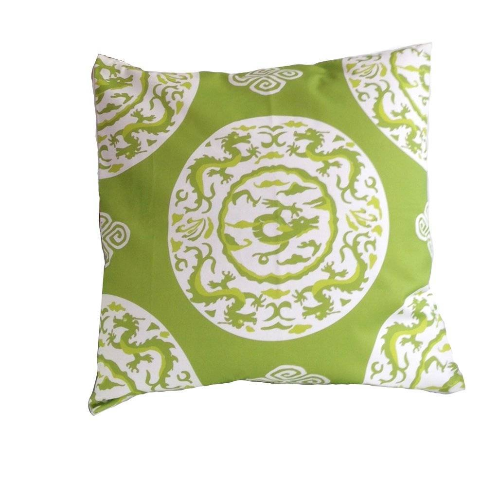 Dana Gibson Green Dragon Pillow
