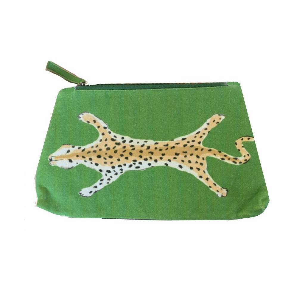 Dana Gibson Green Leopard Travel Bag