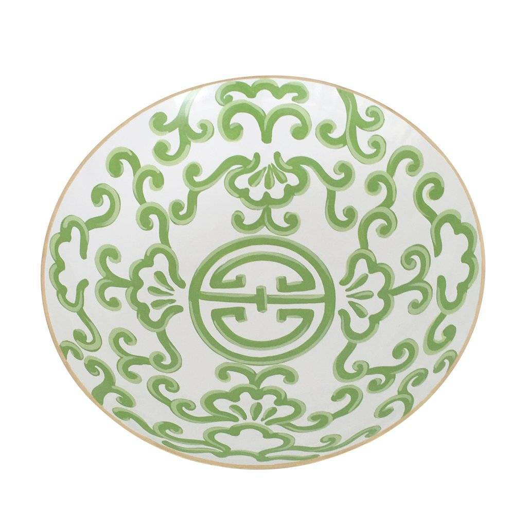 Dana Gibson Green Sultan Bowl Large