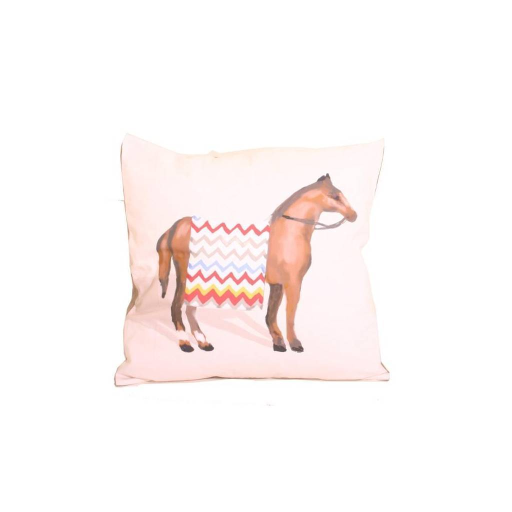 Dana Gibson Horse Pillow