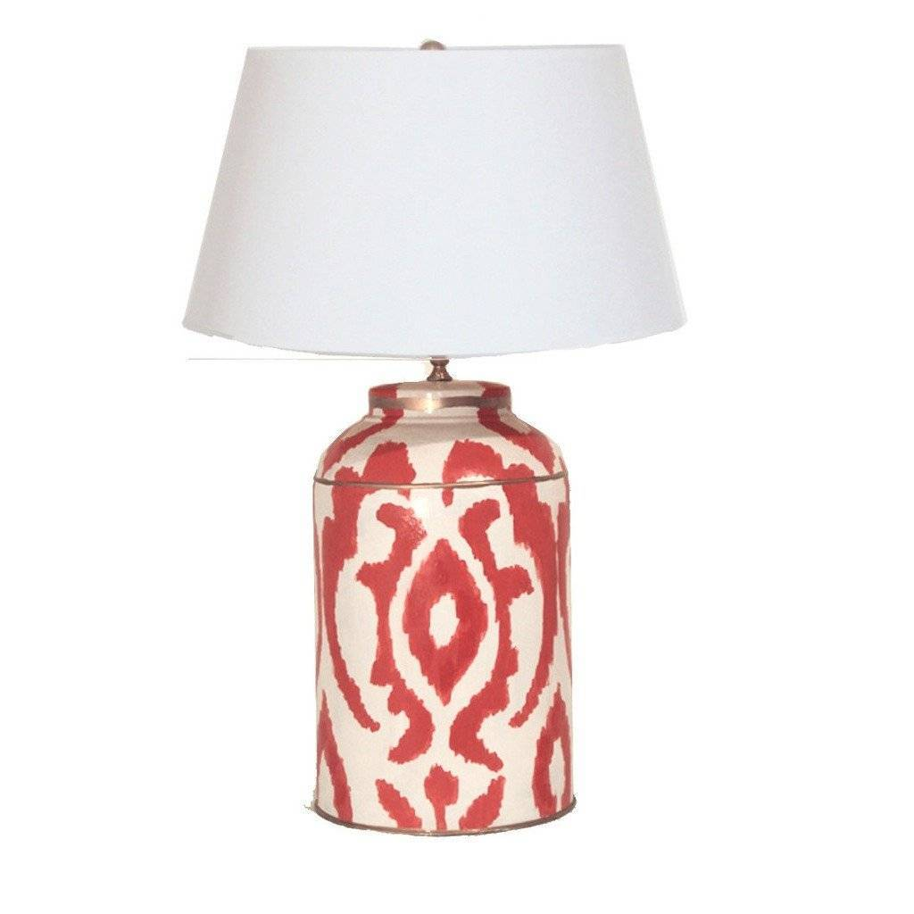 Dana Gibson Large Magda Tea Caddy Lamp in Persimmon