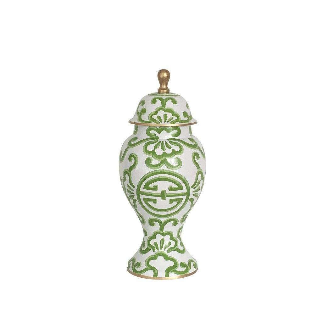 Dana Gibson Medium Ginger Jar Green Sultan