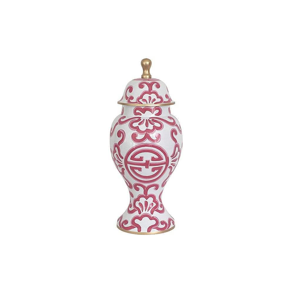 Dana Gibson Medium Ginger Jar Pink Sultan