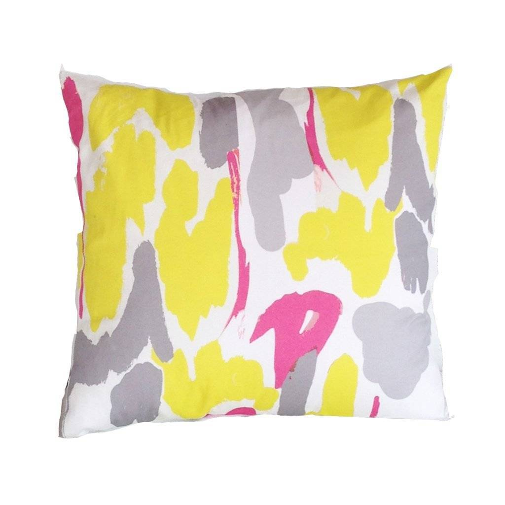 Dana Gibson Modern Art in Yellow Pillow