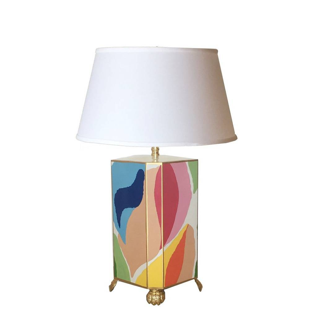 Dana Gibson Modern Art Lamp with White Shade Small