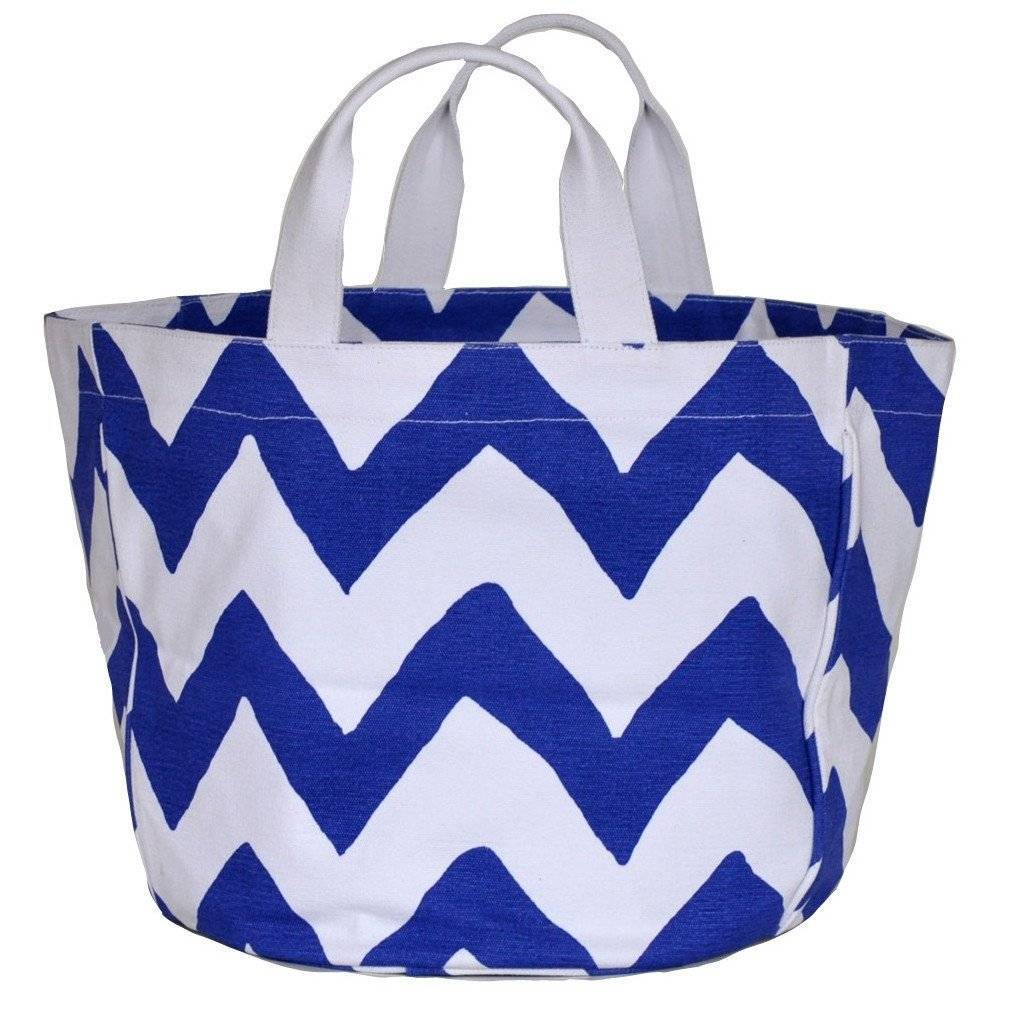Dana Gibson Navy Bargello Bucket Tote