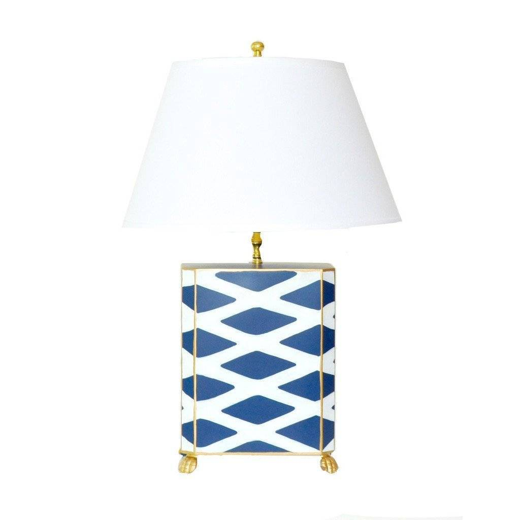 Dana Gibson Navy Parthenon Lamp