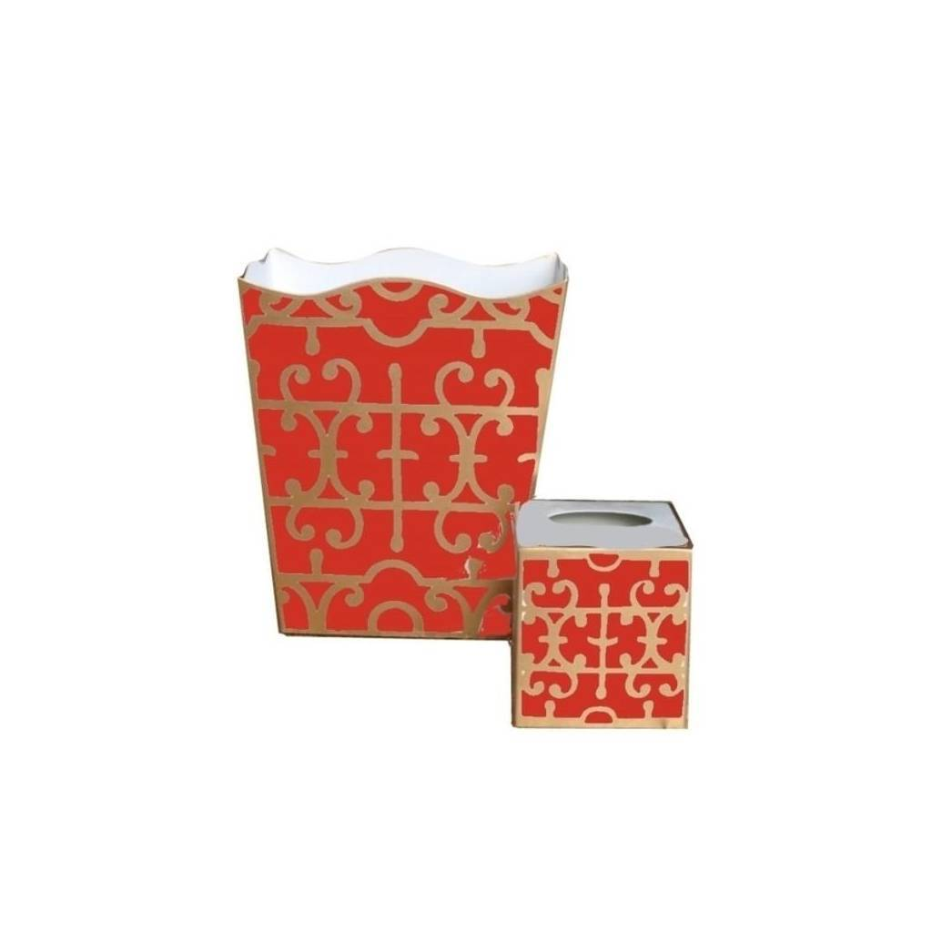Dana Gibson Orange Klimt Wastebasket