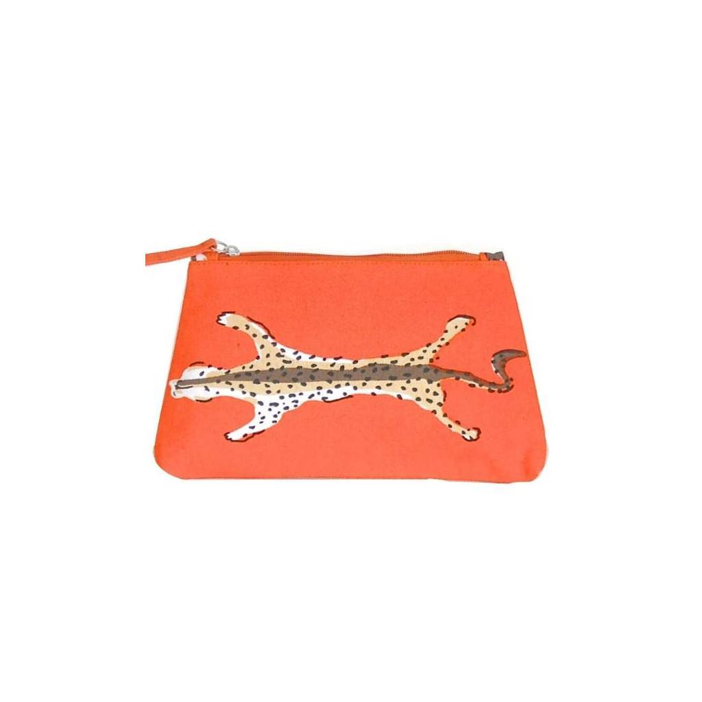 Dana Gibson Orange Leopard Travel Bag