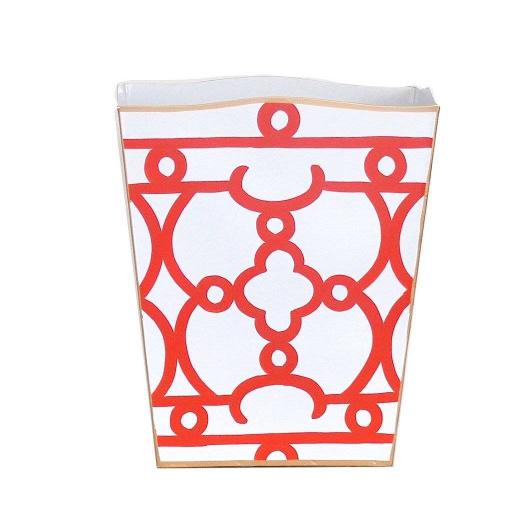 Dana Gibson Orange Ming Wastebasket