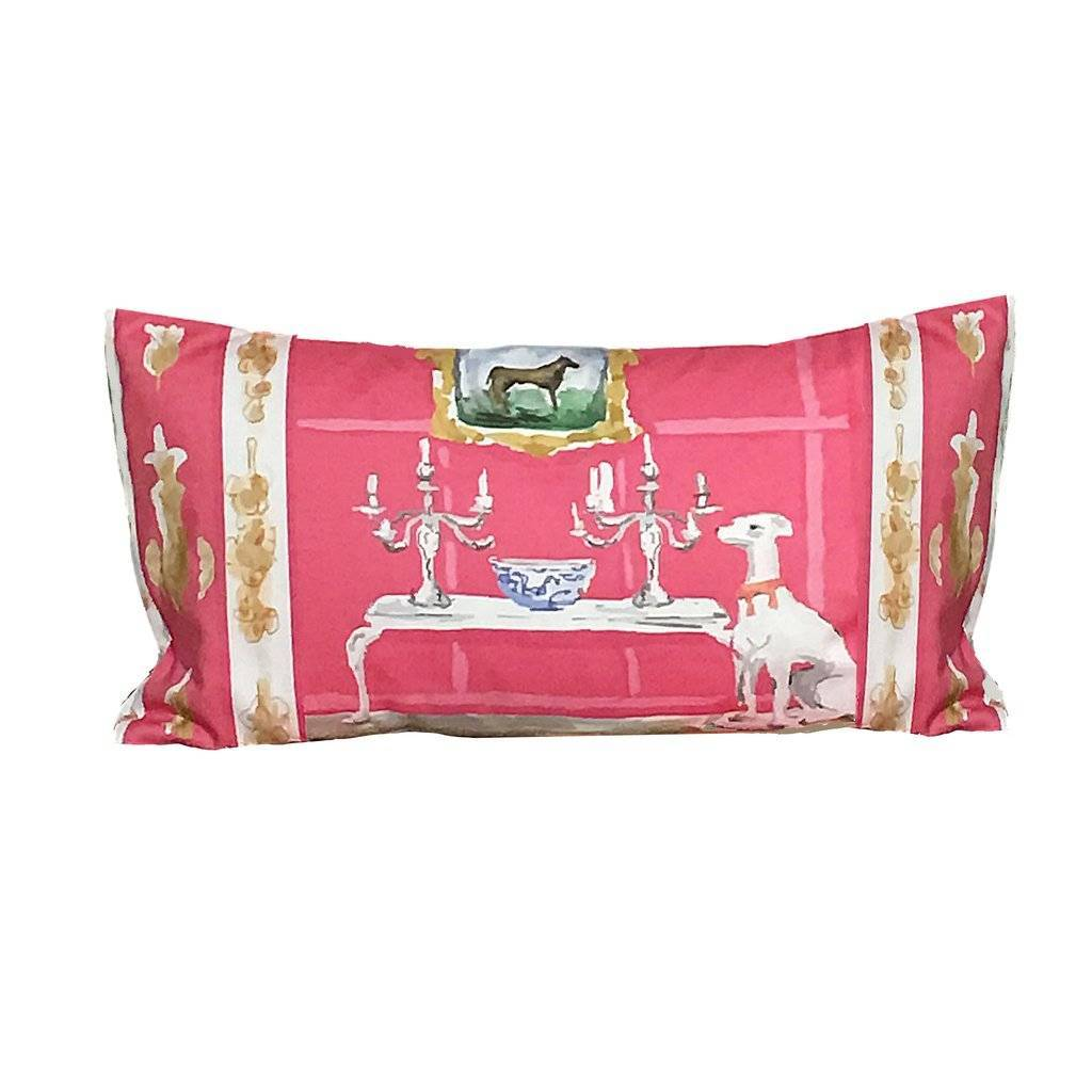 Dana Gibson Pink Dog Pillow