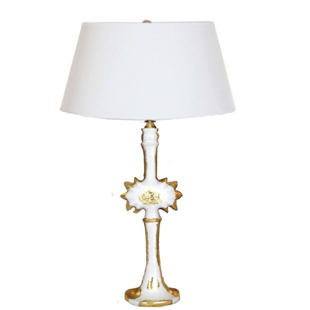 Dana Gibson Salutation Lamp in White