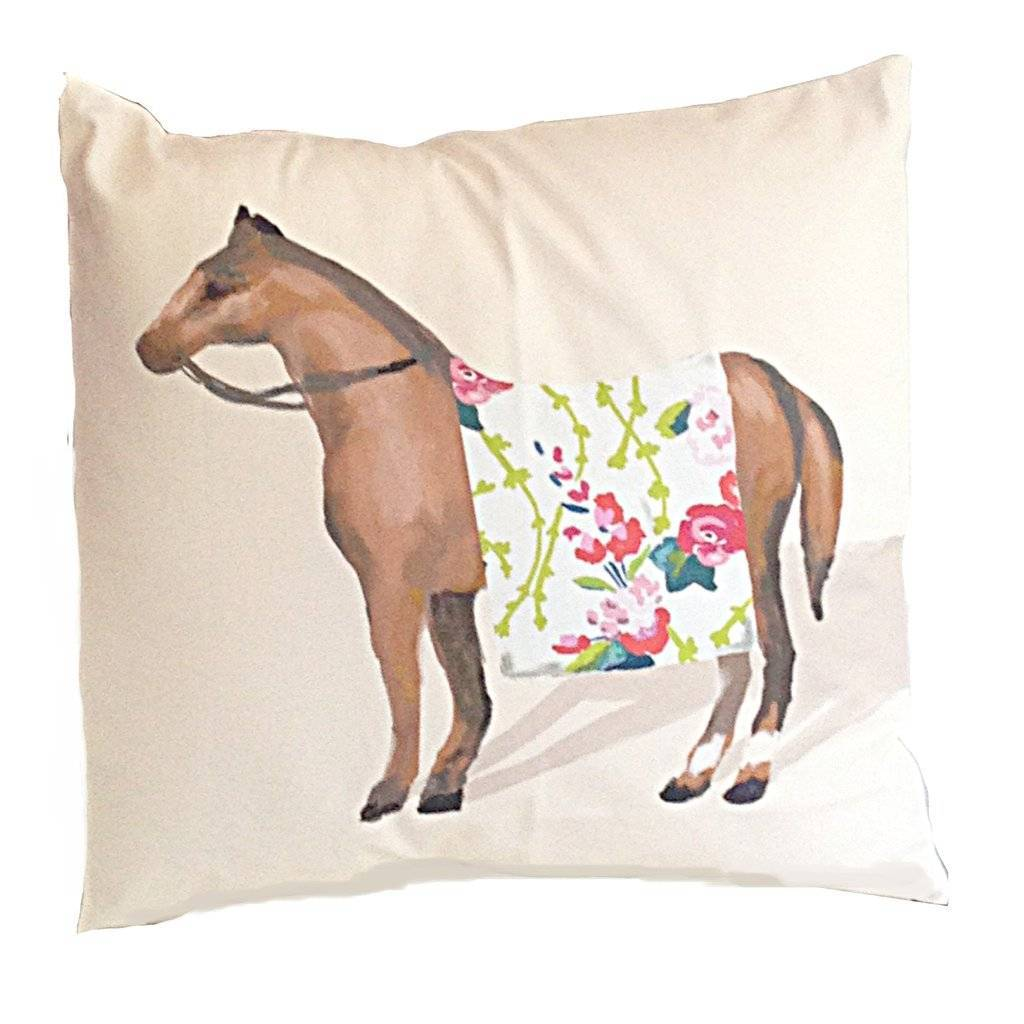 Dana Gibson Show Horse in Chintz Pillow