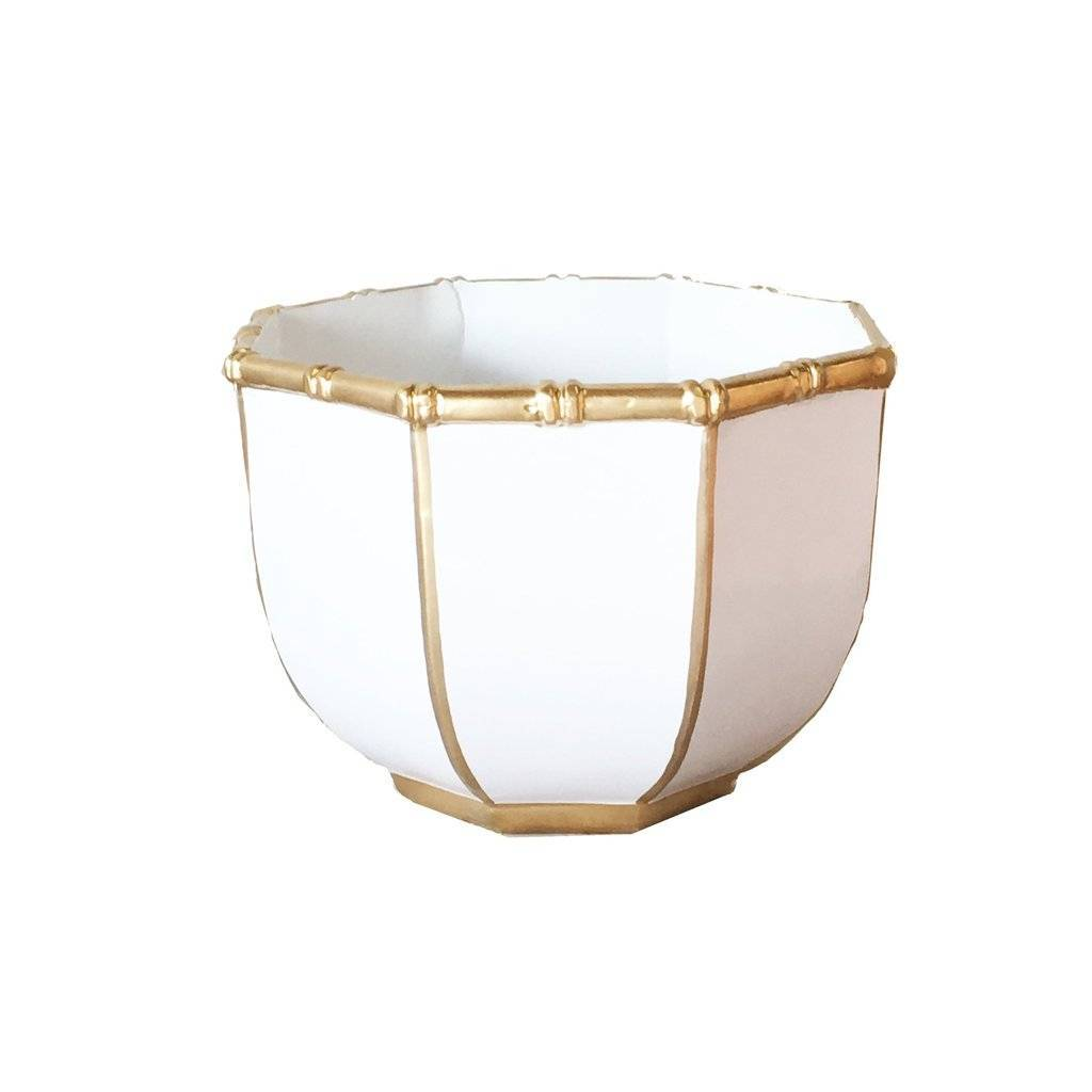 Dana Gibson Small Bamboo Bowl in White