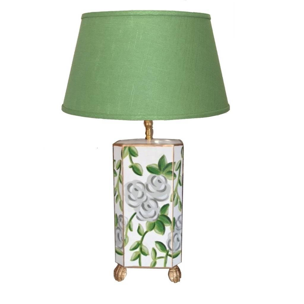 Dana Gibson White Chintz Lamp Small