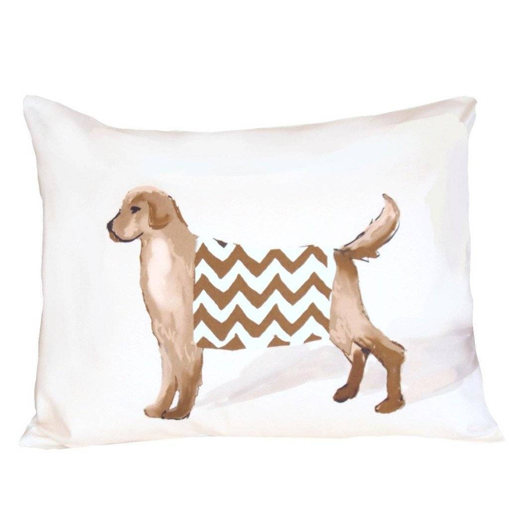 Dana Gibson White Dog Pillow