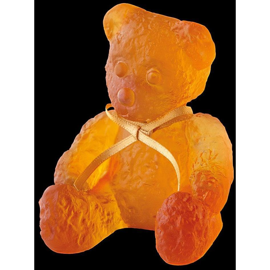 Daum Crystal Amber Mini Doudours Teddy Bear 05364-1C
