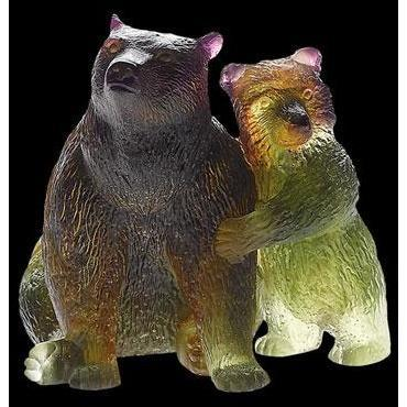 Daum Crystal Bear And Bearcub 02489