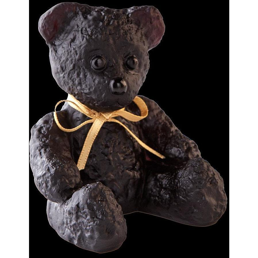 Daum Crystal Black Mini Doudours Teddy Bear 05364-4C