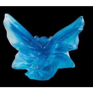 Daum Crystal Butterfly Small Blue Turquoise 05334-4