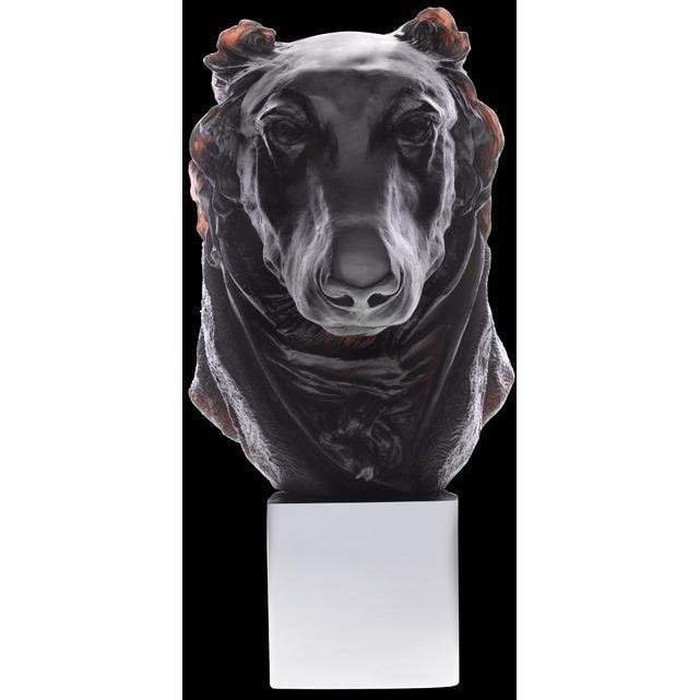 Daum Crystal Dandys Andrew Greyhound Black  03678