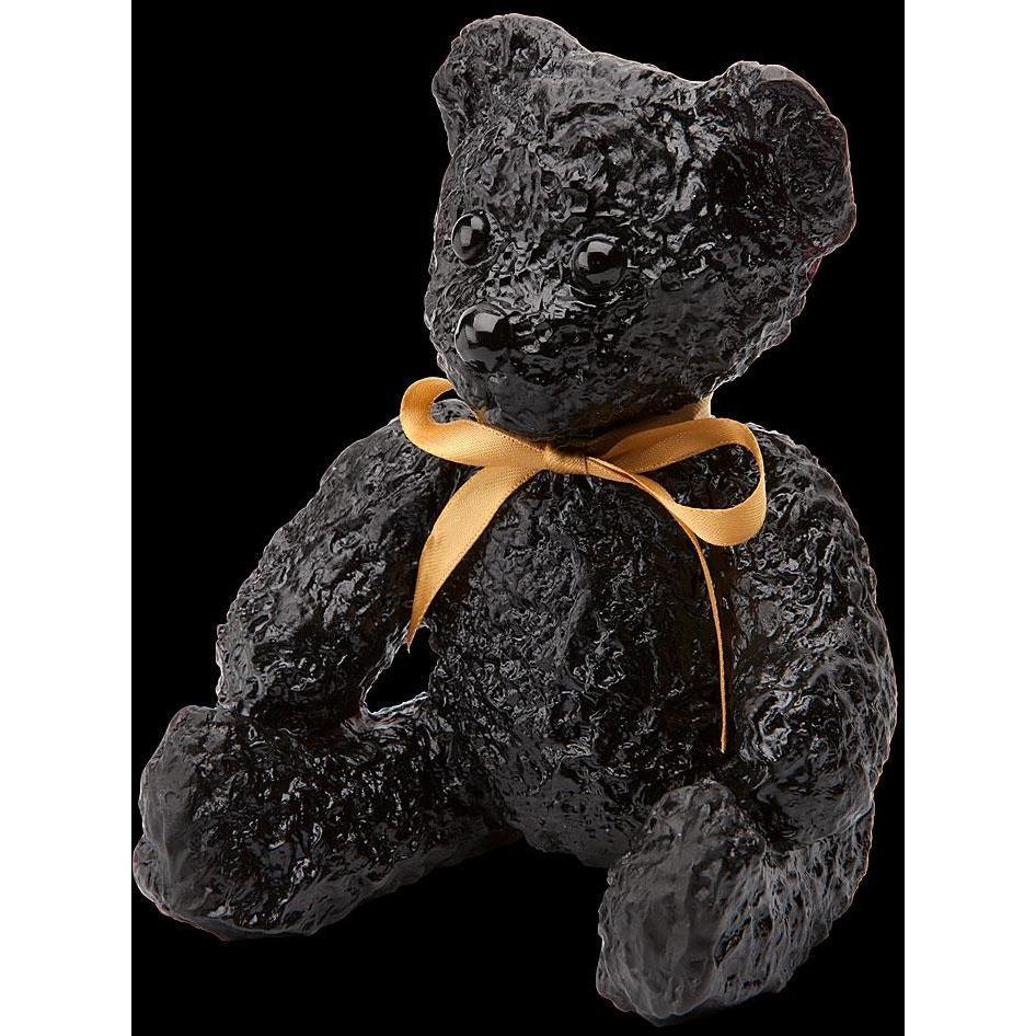Daum Crystal Doudours Teddy Bear Black 05271-4