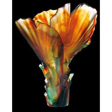 Daum Crystal Palm Vase 03458