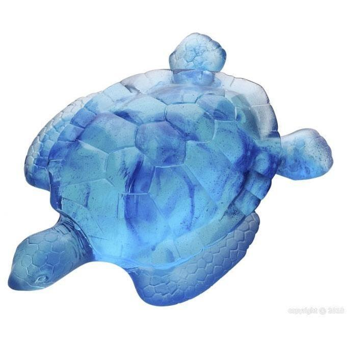 Daum Crystal Turtle Blue 02691-5