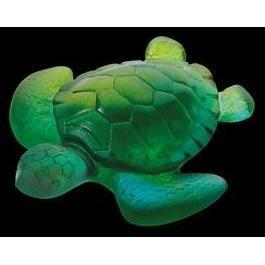 Daum Crystal Turtle Mini Blue Green 02690-7