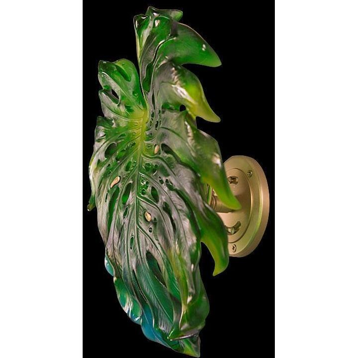 Daum Crystal Wall Leaf Short Fixation Small Green 05276-040