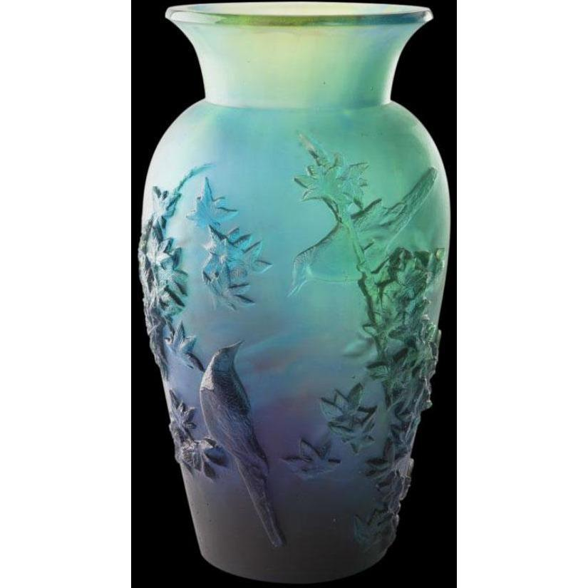 Daum Crystal Winter Vase Blue 05294-4