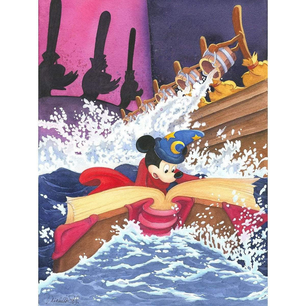 Disney Fine Art A Spell to Stop the Flood
