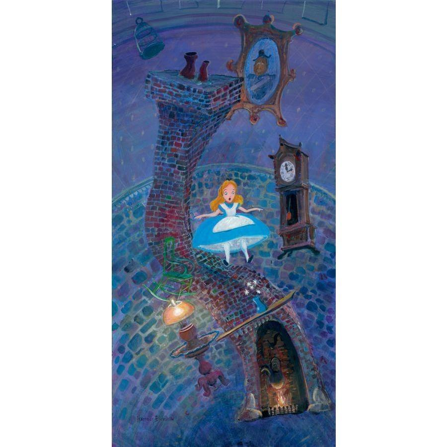 Disney Fine Art Alice Floating Into Wonderland