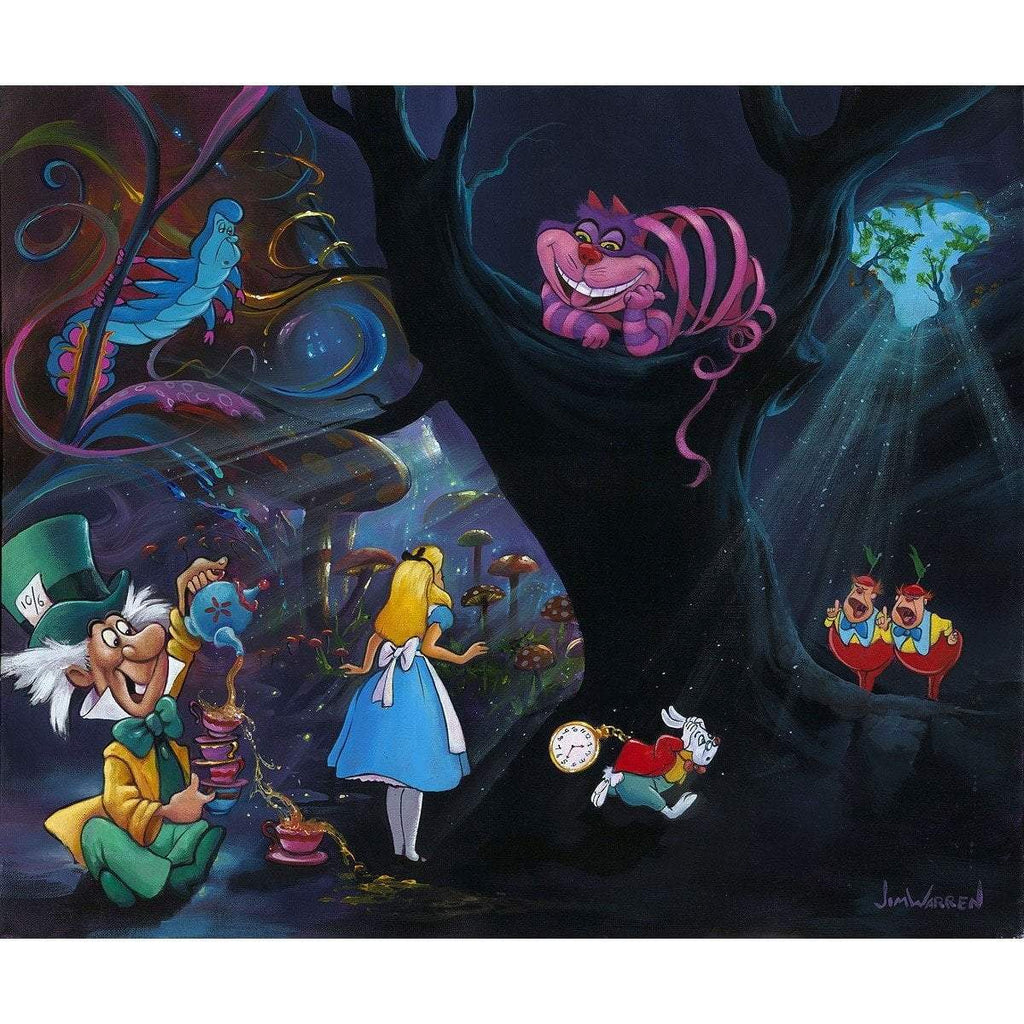 Disney Fine Art Alice in the Rabbit Hole