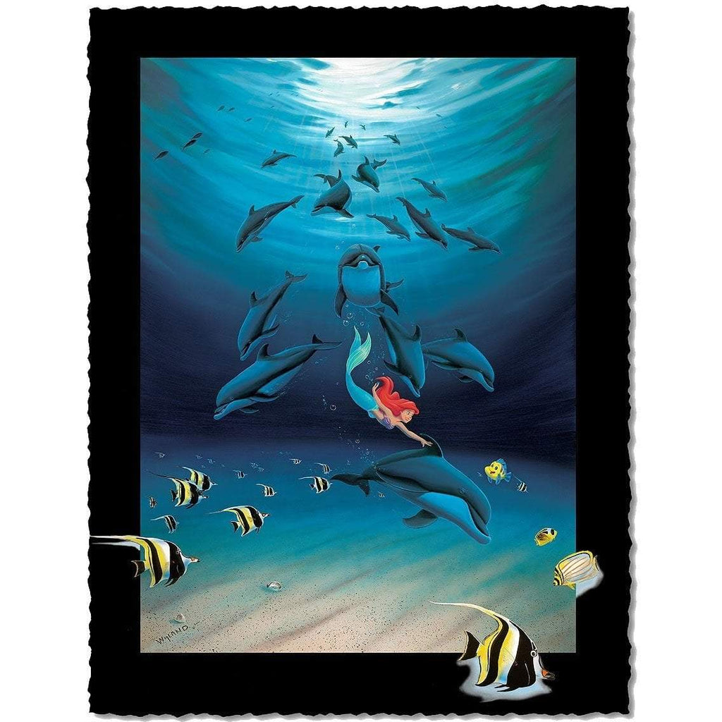 Disney Fine Art - Ariel's Dolphin Playground - Artist Proof