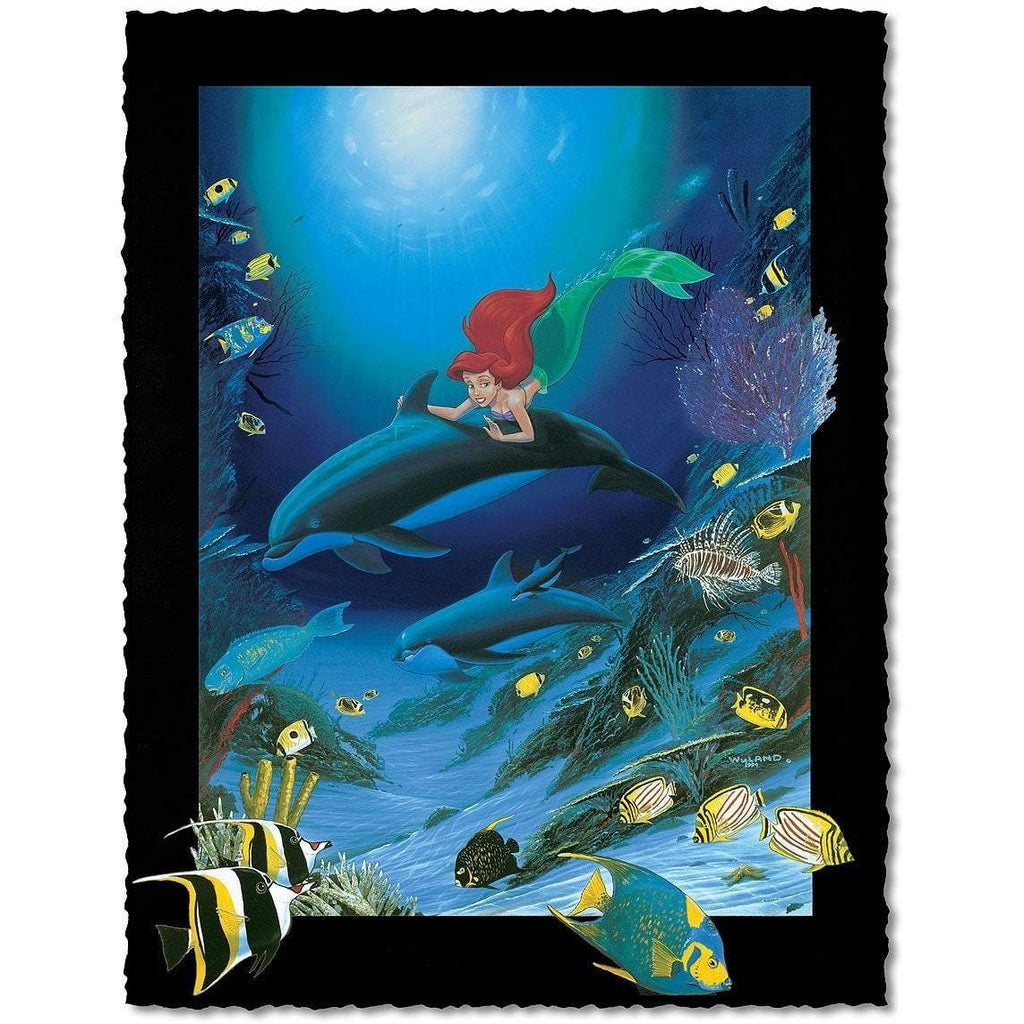 Disney Fine Art - Ariel's Dolphin Ride - Artist Proof