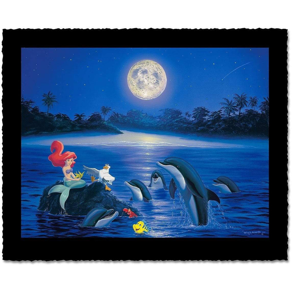Disney Fine Art - Ariel's Dolphin Serenade - Artist Proof