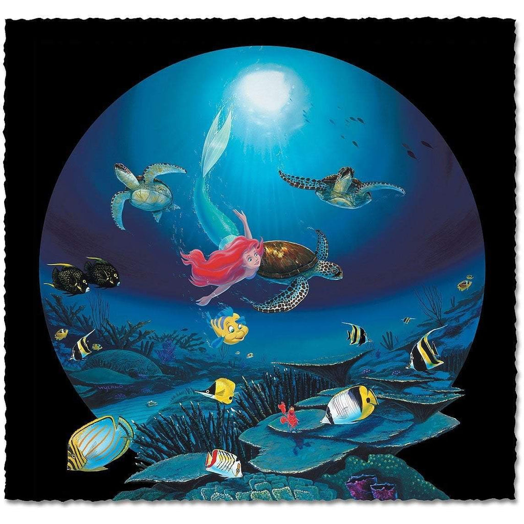 Disney Fine Art - Ariel's Turtle Flight