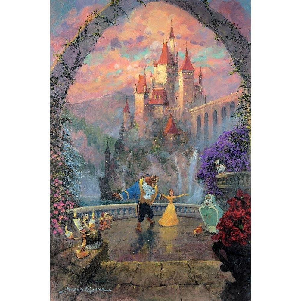 Disney Fine Art Beast and Belle Forever