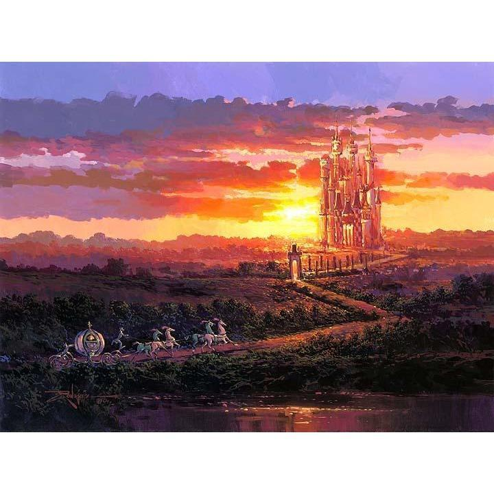 Disney Fine Art Castle At Sunset